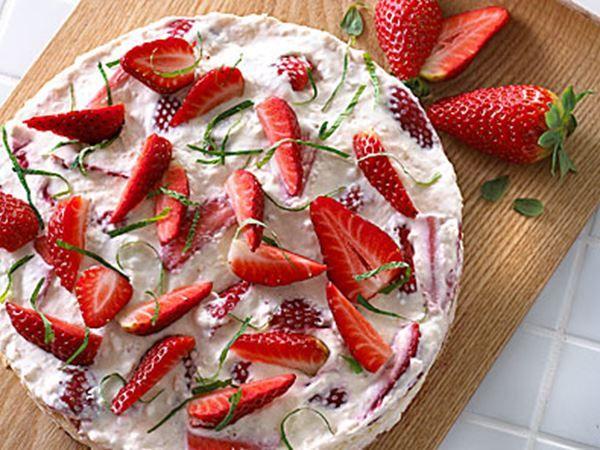 Jordbærhytteostkage