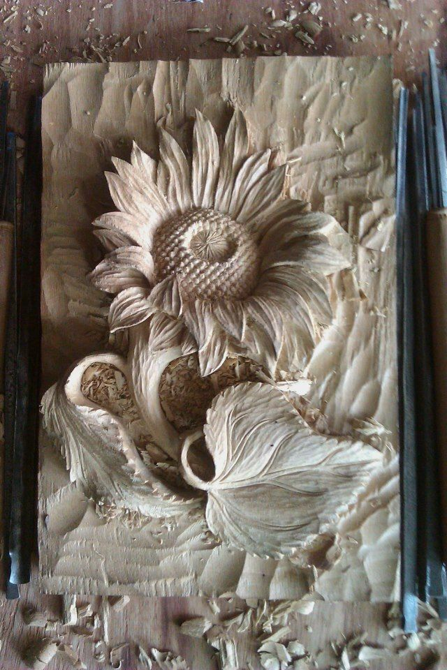 88 best images about Carving flowers on Pinterest | Murals