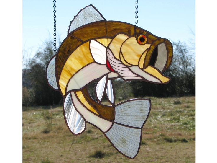 415 best stained glass and colorful glass work images on for Stained glass fish