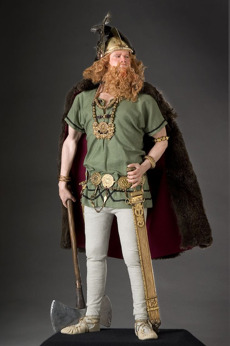 Full length portrait of Erik the Red, an Historical Figure by George Stuart