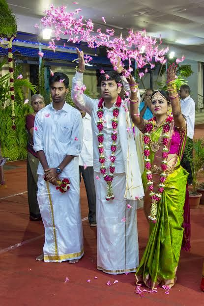 We love weddings and we have made no secret of that! We've come across many types of weddings. The big fat weddings, the filmi style weddings, destination weddings and theme weddings to name a few. But now and then, we come across a wedding that is sweet, one that gives you a warm fuzzy feeling. This is one such wedding. Please read on and get to know this sweet story from our new bride, Suryaprabha! ?