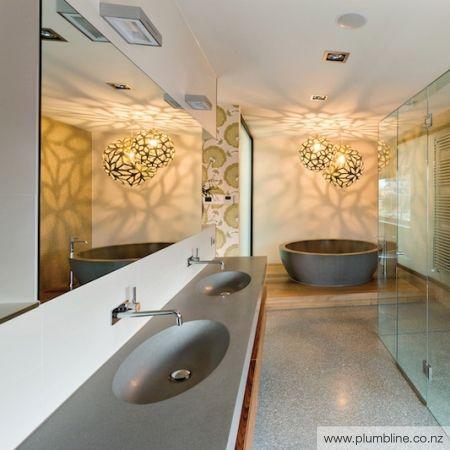 Oval 1800 Double Stone Vanity Top - apaiser Stone Vanity Tops - Basins - Bathroom