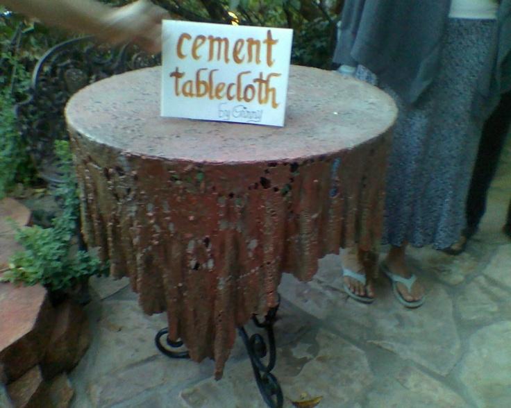 Cement tablecloth artful home outdoor living pinterest planters tablecloths and cement - Cement cloth garden ornaments ...