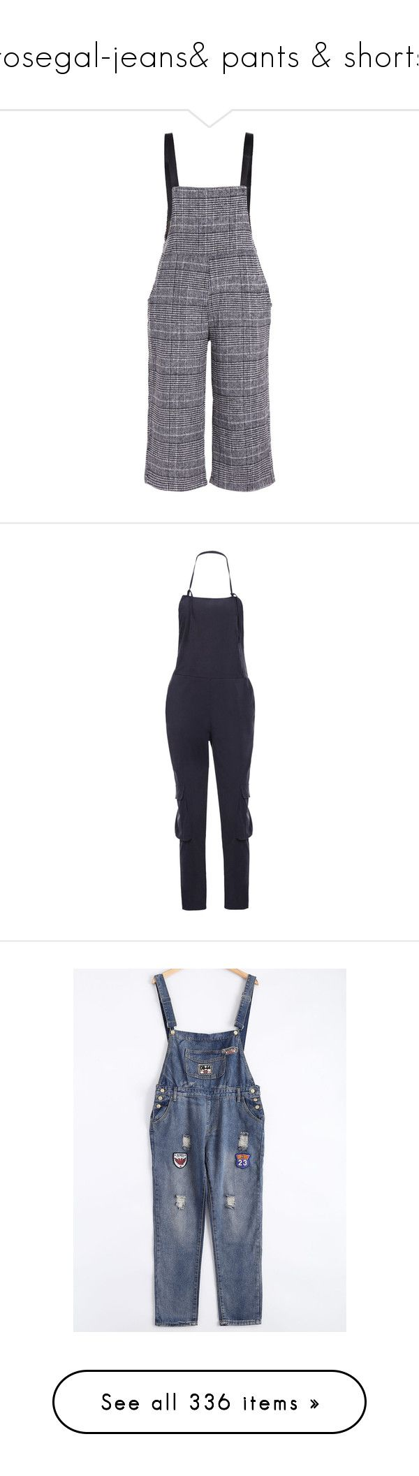 """rosegal-jeans& pants & shorts"" by rosegal-official ❤ liked on Polyvore featuring jumpsuits, rosegal, pants, women's plus size overalls, blue bib overalls, blue overalls, overalls jumpsuit, plus size bib overalls, pant and bib overalls"