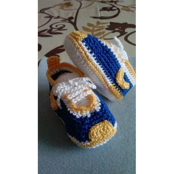Scarpe neonato all'uncinetto - Mod. Nike