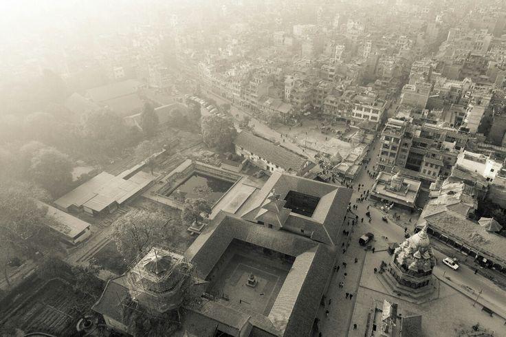 Aerial shot of Patan in Kathmandu Nepal.