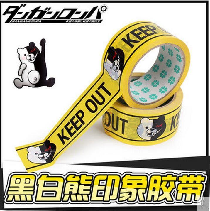 Danganronpa: Trigger Happy Havoc keep out Tape Cosplay Prop Tapes monokuma