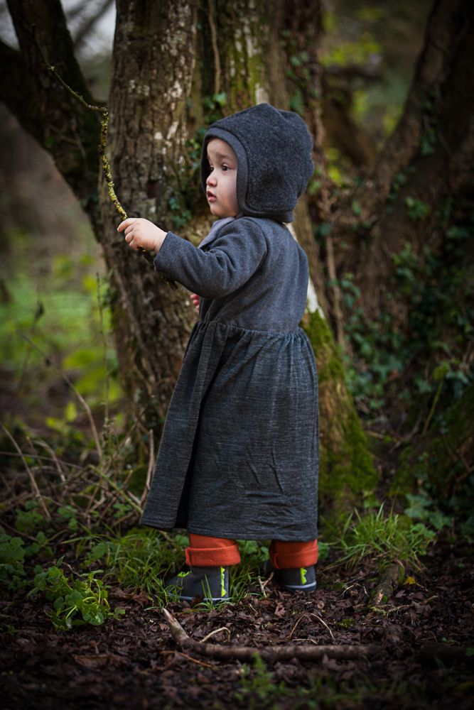 AAMcEvoy AW17 collection  Bonnet 100% Organic Virgin Wool http://www.aamcevoy.com/store/p9/Bonnet.html    |Long sleeved dress in Charcoal- Chest and sleeves in 100%Organic cotton, Skirt in 64%organic wool/36%Organic cotton    |Harem pants in Henna- 100% organic cotton Available in Charcoal      |MADE IN IRELAND|