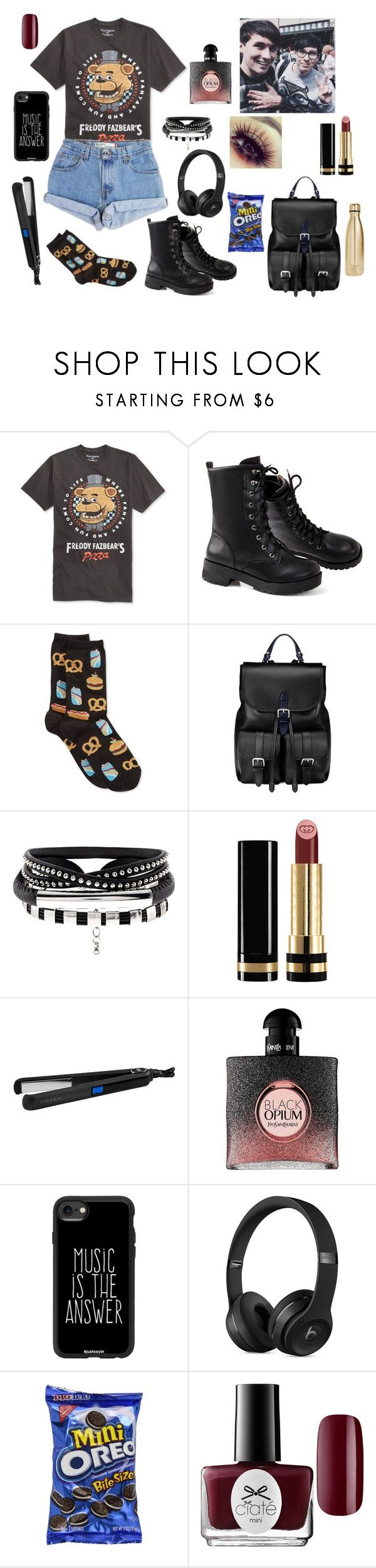 """E3 Day With Dan & Phil! ~ The Boy With The Cat Whiskers"" by gravityfallsgirl33 ❤ liked on Polyvore featuring Bioworld, Levi's, HOT SOX, Aspinal of London, Gucci, Theorie, Yves Saint Laurent, Casetify, Ciaté and S'well"