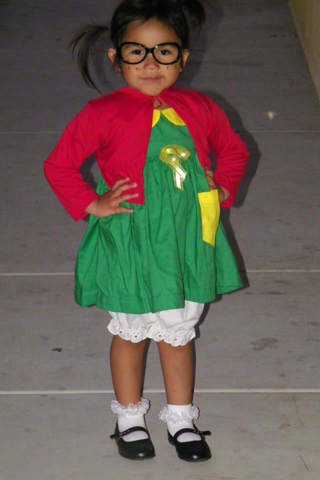 My daughter wearing her Chilindrina costume :)