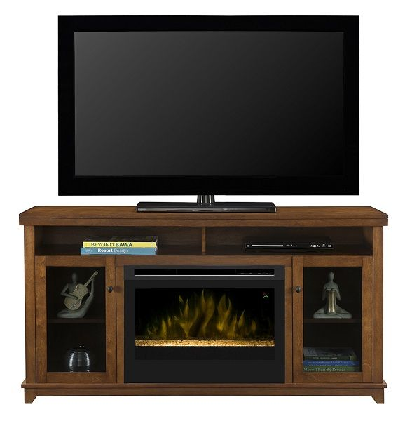 """Dimplex Dupont electric fireplace media cabinet with 25"""" firebox; $749 cdn."""