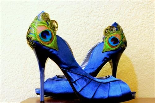 The shoes I bought for my wedding, my something blue!  #LaPlumeEthéré: Peacock Feathers, Peacock Pumps, Wedding Shoes, Peacock Shoes, Peacock Heels, Awesome Shoes, Blue Shoes, Peacock Blue, Something Blue
