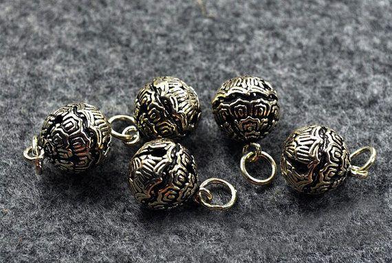 12mm Sterling silver bell charmbell pendantjingle by MyMagicSilver