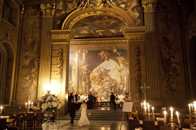 Oh my goodness! This is breathtaking! Wedding venue is The Old Royal Naval College in Greenwich, London, UK
