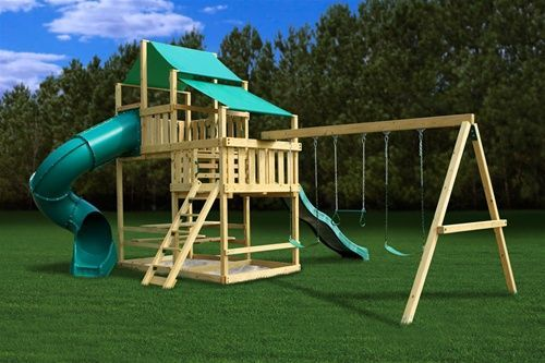 Outdoor Wooden Swing Set Plans | ... Swingset Plans for your backyard at everyday low - Swing Set Paradise
