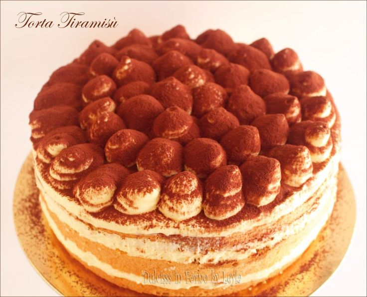 Torta tiramisù con crema al mascarpone di Montersino e uova pastorizzate. Una torta speciale adatta a compleanni e feste. Si scioglie in bocca !!