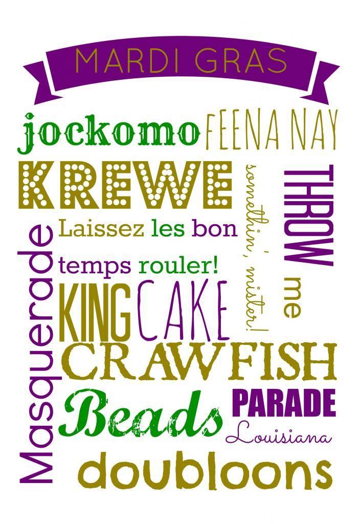The...Late, Young Family: Mardi Gras Printable