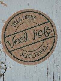 Sticker craft `Veel liefs` 3