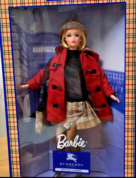 Mattel Barbie Doll with BURBERRY LONDON BLUE LABEL Limited Edition JAPAN 1999 FS #Mattel #DollswithClothingAccessories