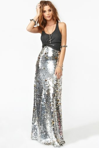 sequin maxi skirtFashion, Gal Gina, Gina Sequins, Sequin Maxi Skirts, Awesome Style, Glitter Maxis, Sequins Maxis Skirts, Clapping Style, Nasty Gal