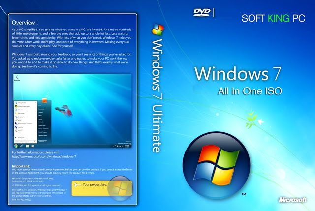 Windows 7 All In One Iso Download Microsoft Windows All In One Computer Technology