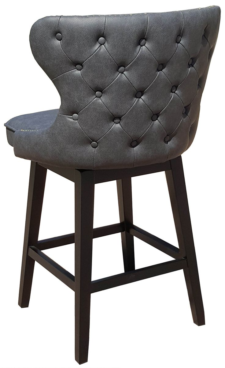 White Leather Counter Stools With Nailhead Trim