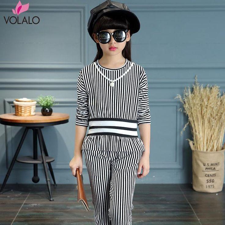 $24.34 (Buy here: https://alitems.com/g/1e8d114494ebda23ff8b16525dc3e8/?i=5&ulp=https%3A%2F%2Fwww.aliexpress.com%2Fitem%2FGirls-Clothing-Sets-Cotton-Brand-Kids-Clothes-For-Girls-Striped-T-Shirt-Pants-2Pcs-Children-Clothing%2F32715581226.html ) Girls Clothing Sets Cotton Brand Kids Clothes For Girls Striped T-Shirt + Pants 2Pcs Children Clothing Autumn Baby Girl Clothes for just $24.34