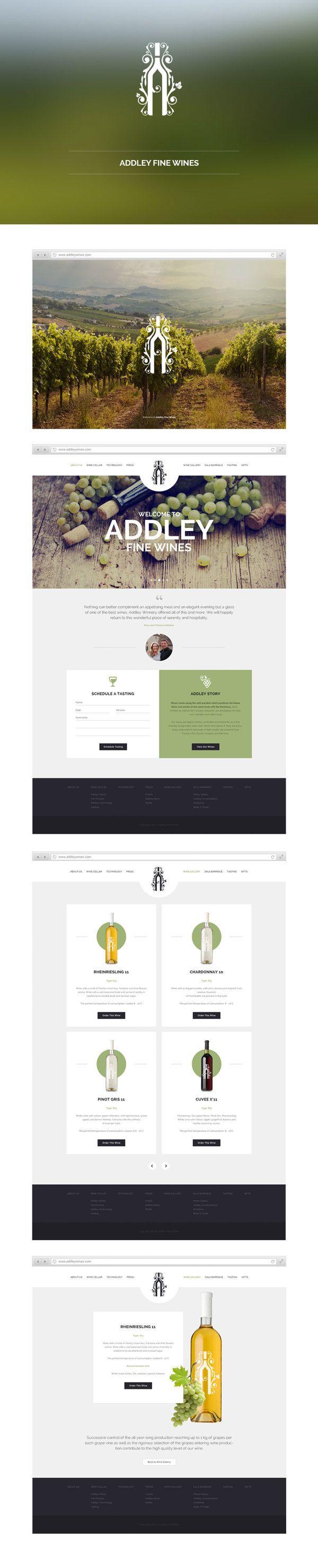 Addley Fine Wines by Oana Stefan, via Behance
