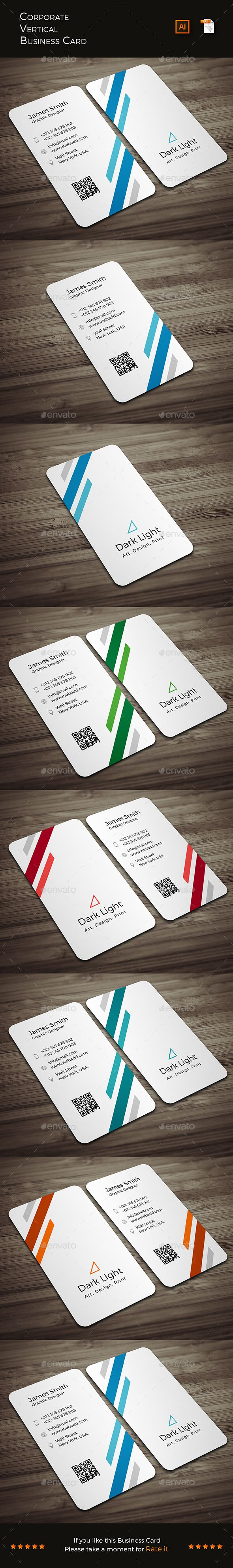 Corporate Vertical Business Card — Vector EPS #ai #corporate • Available here → https://graphicriver.net/item/corporate-vertical-business-card/16792011?ref=pxcr