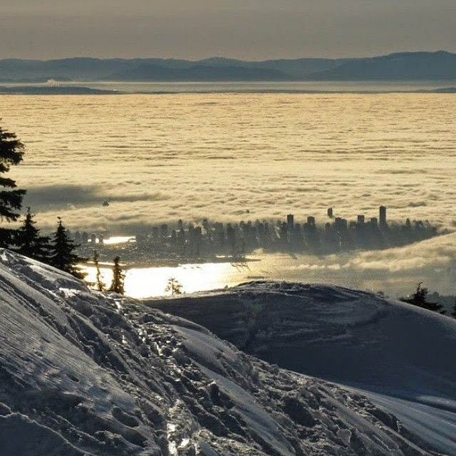 A Breathtaking View of Vancouver, BC, Canada from Mount Seymour <3 Photo: Factczech #Vancouver, #MustbeVancouver
