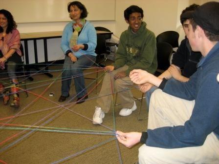 Yarn Spider Web Team Building Activity