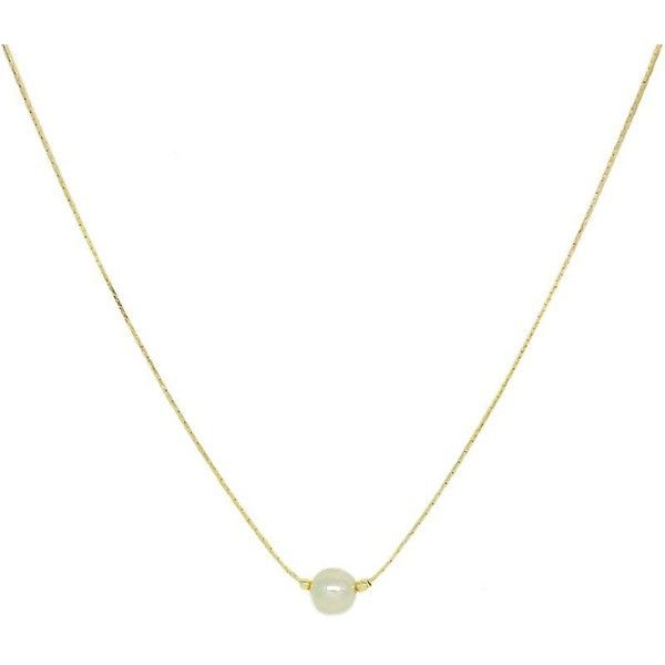 Single Pearl necklace (89 BRL) ❤ liked on Polyvore featuring jewelry, necklaces, pearl jewellery, 18k jewelry, chains jewelry, pearl necklace and 18 karat gold jewelry