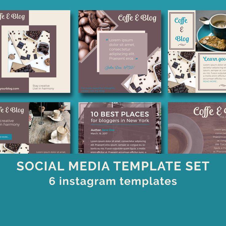 Coffee&Blog - Social Media Templates / Instagram templates / facebook templates / blog templates by JKBlogBrand on Etsy