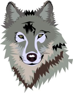Wolf Clipart. صورة رأس ذئب