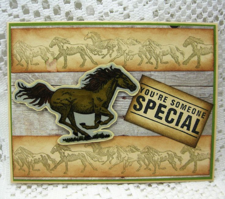 Your someone special, great western back drop, western horses by PennieSuesBoutique on Etsy