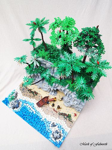 The Treasure Cave.   Built for the LEGO Landscape contest.   Mark of Falworth   Flickr
