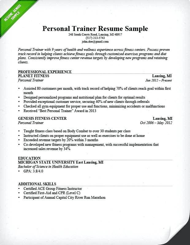 Sample Resume Zumba Instructor Instructor Resume Resumeexamples