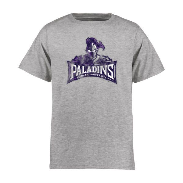 Furman Paladins Youth Classic Primary T-Shirt - Ash - $17.99