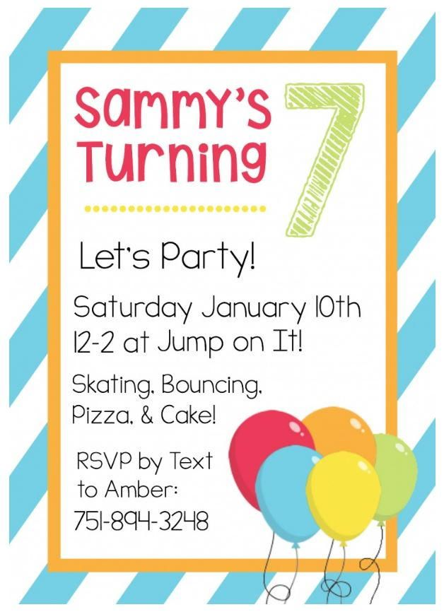 The 25 best Free birthday invitation templates ideas – Girl Birthday Invitation Templates