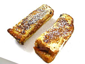 Skinny PB & J French Toast Sticks. Super yummy and easy to make, with ingredients you probably have on hand. So satisfying with 170 calories, 7.5 grams of fat and 5 Weight Watchers POINTS PLUS. Enjoy! http://www.skinnykitchen.com/recipes/celebrate-national-peanut-butter-lovers-day-with-skinny-pb-j-french-toast-sticks/