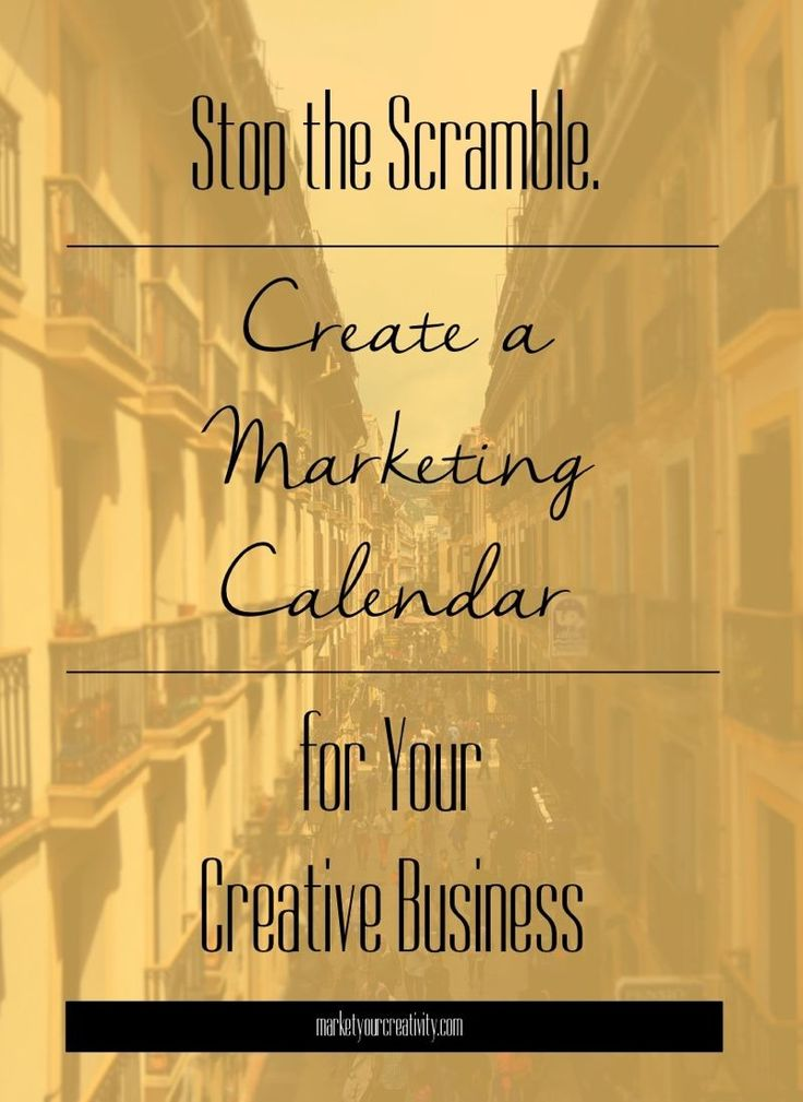 Here's an easy, step-by-step breakdown on how to create a marketing calendar for your #craft or #Etsy business. Stop doing the scramble once and for all!