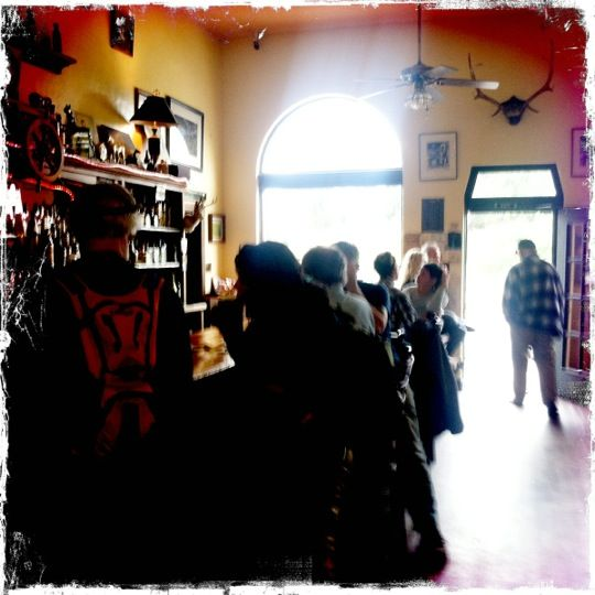 San Gregorio General Store in San Gregorio, CA When I was little, mum used to take us in there to get a slab of aged, crumbly cheddar (like Aleksandra made in A Long Trail Rolling), and some Martinelli's Apple juice in the apple shaped bottles... if the nice man with the food truck wasn't at the beach... in the sunny weather.  Otherwise it was hot chocolate... :) Yum. Thanks Mum!