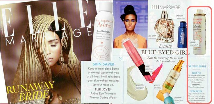 Want to rehydrate your skin without messing up your make-up to look perfect on your big Wedding Day ? Definitely follow Elle Marriage advices and always carry an Avène thermal water spray with you ! ELLE India