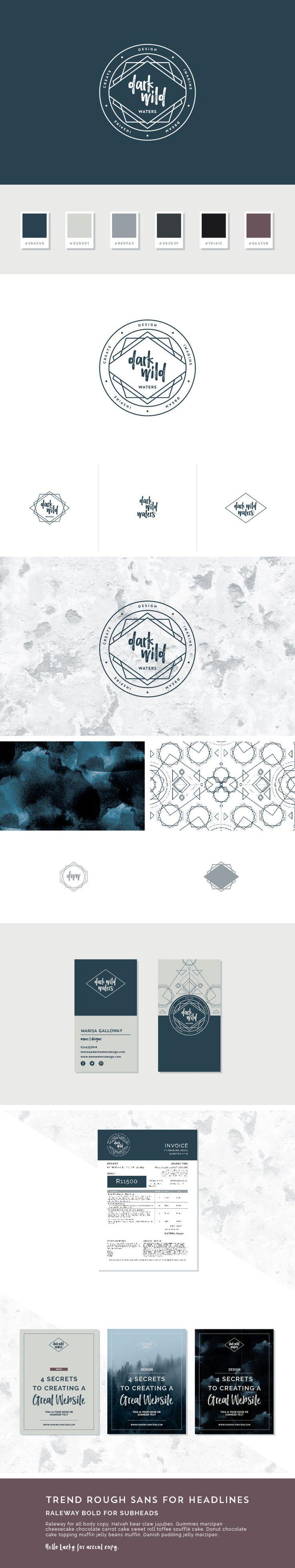 Dark Wild Water brand styling and design by Freckled Design Studio