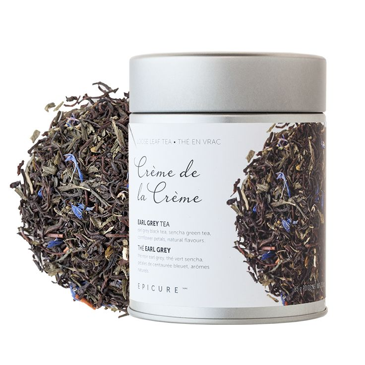 Crème de la Crème Earl Grey Tea: Ours is incredibly creamy, with the irresistible flavours of caramel, vanilla, and bergamot, and a touch of smooth green tea.