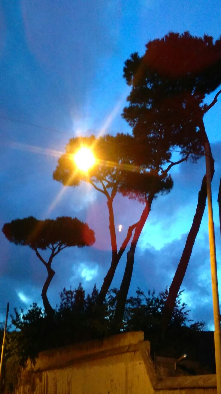 glimpse of Rome at dusk