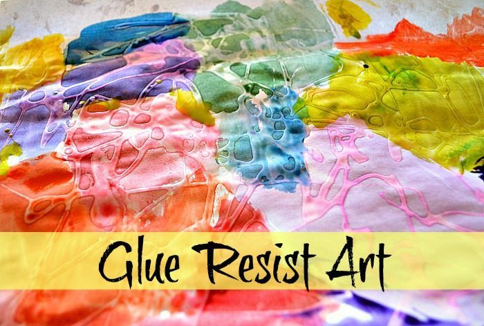 Really pretty and fun glue resist art. This will be a two day thing because the glue has to dry overnight.