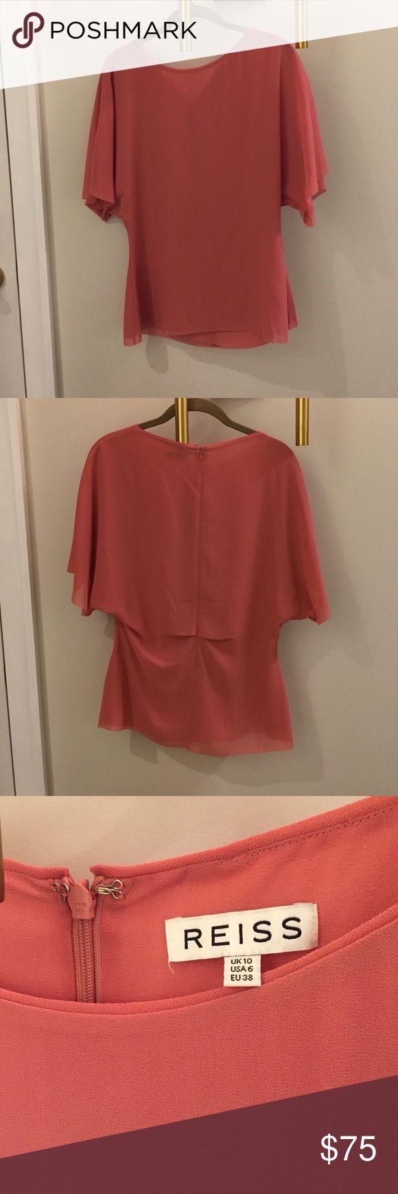 Top Beautiful simple top- rustic red/pink tone Reiss Tops Blouses