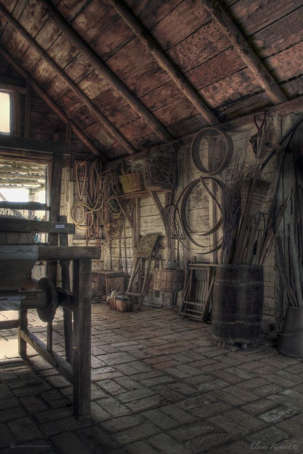 So much cool history inside old barns.