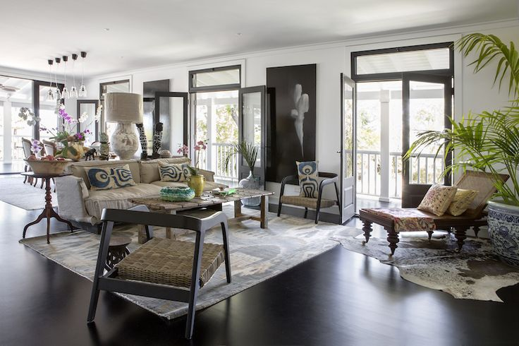 A living area reminiscent of plantation days....